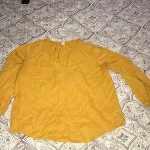 Old Navy Sun gold top